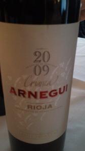 Arnegui Crianza 2009. Rioja