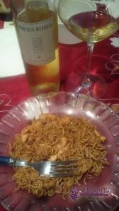 Moscatel con comida china