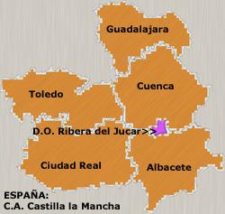 Situación de la D.O. Ribera del Júcar