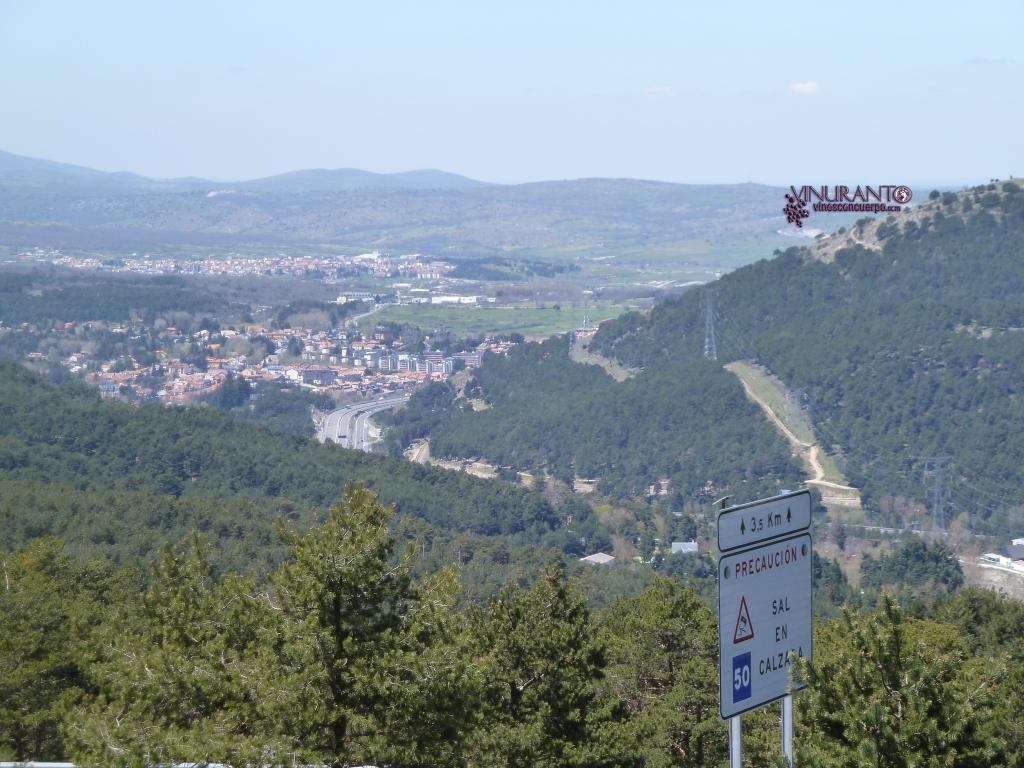 Vistas de Segovia desde el restaurante.