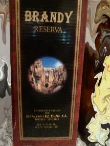 Brandy Reserva El Tajo. Soberbio.