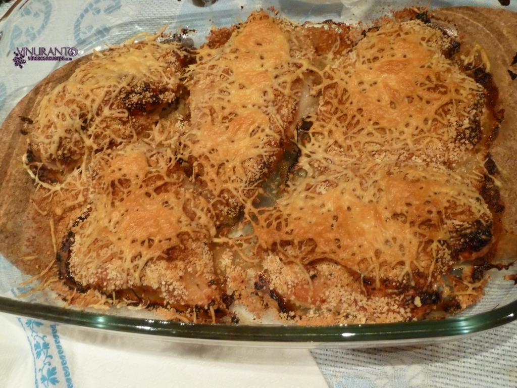 Pollo a la italaina. Delicioso.
