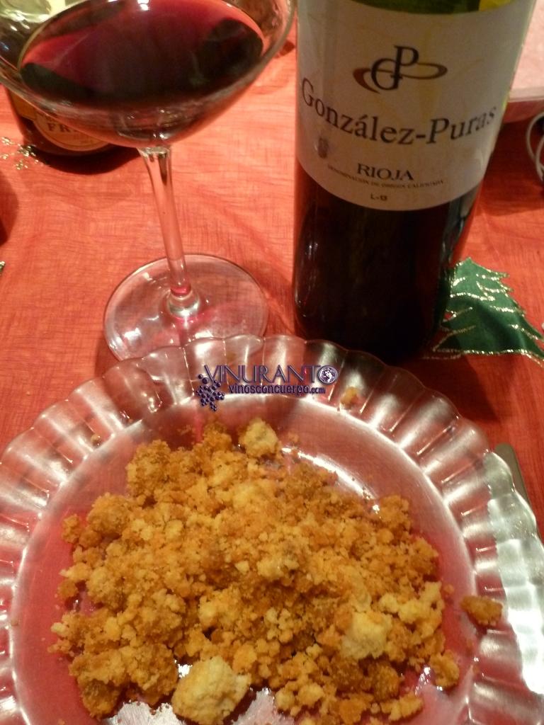 Deliciosas migas con delicioso vino