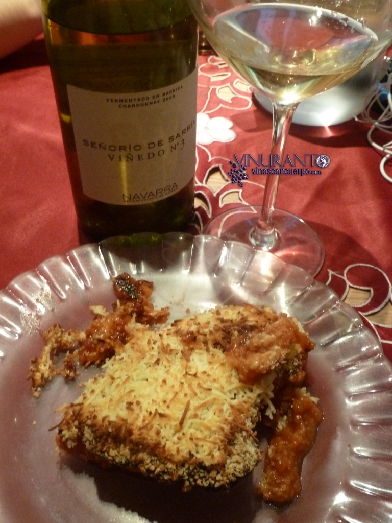 Nuestro maridaje: pollo a la italiana.