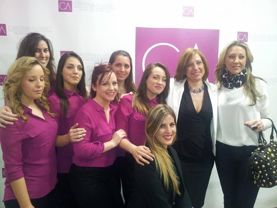 Cristina Alvarez y su equipo.