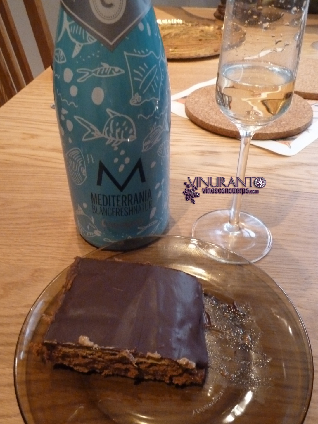 Mediterrania with chocolate and biscuits cake. Delightful!
