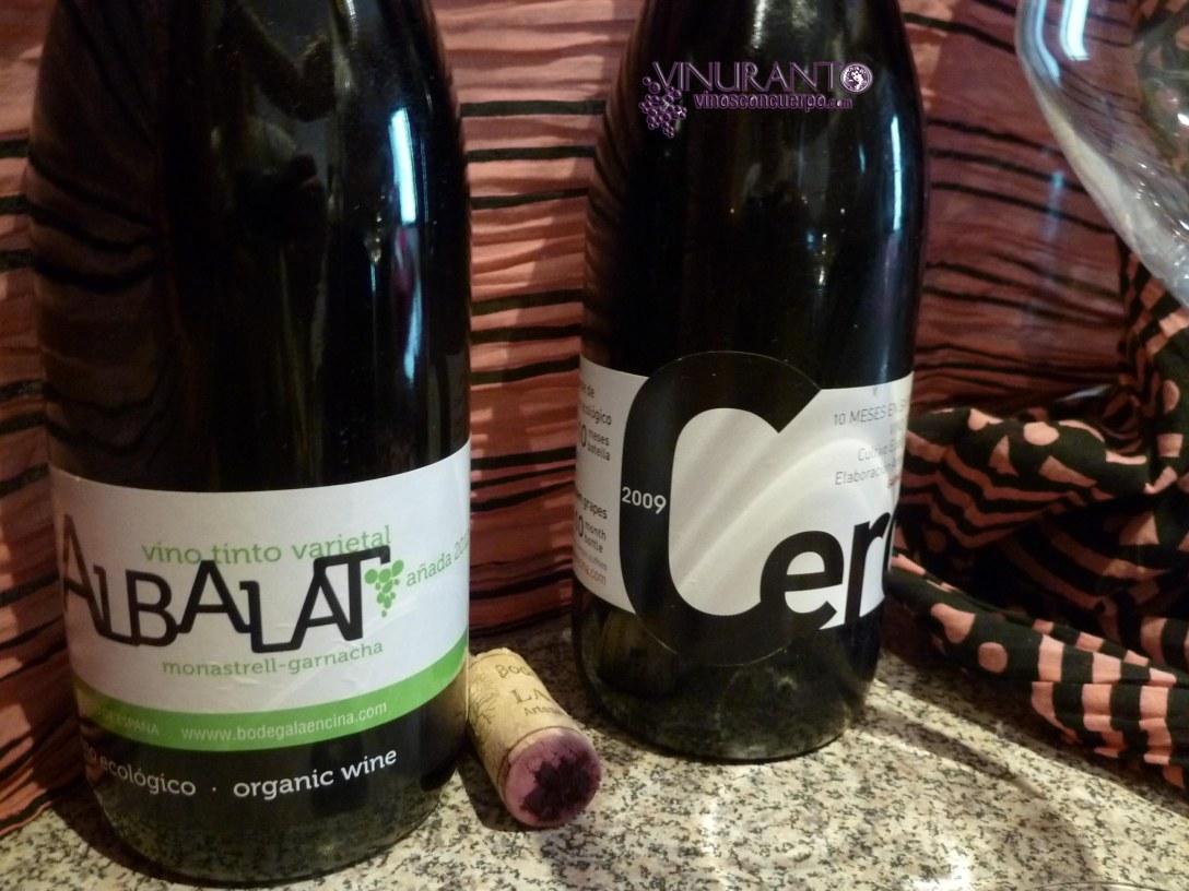 Albalat 2012 y Cero 2009. Vino ecologico y artesanal.