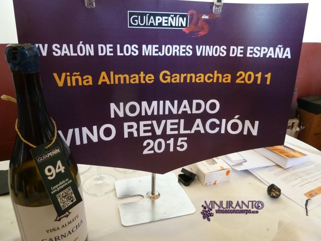 Nominacion a Vino revelacion 2015: Viña Almate Garnacha.