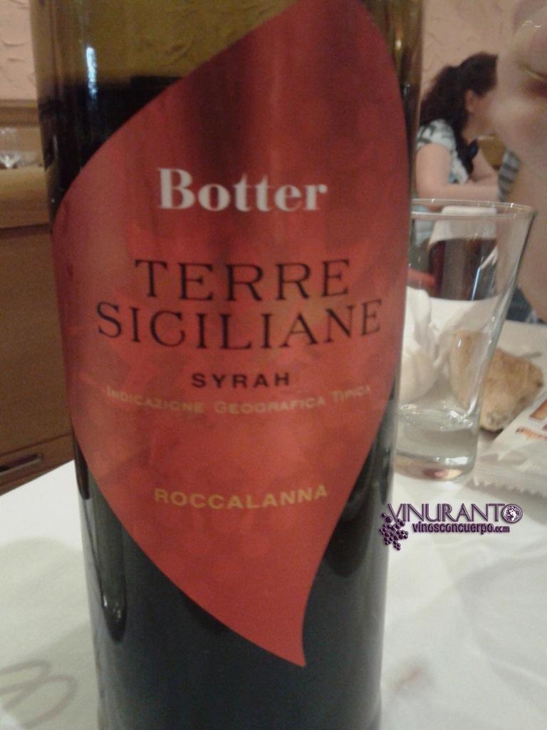 Terre Siciliane. Vino de Italia. IGP. 100% Syrah.