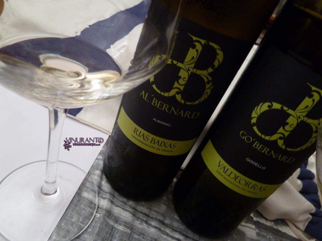 Go Bernard y Al' Bernard. Godello y albariño de Galicia. Elegantes y deliciosos.