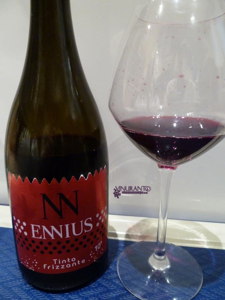 Ennius Tinto. Vino frizzante. Vino de la Tierra de Castillya y León.