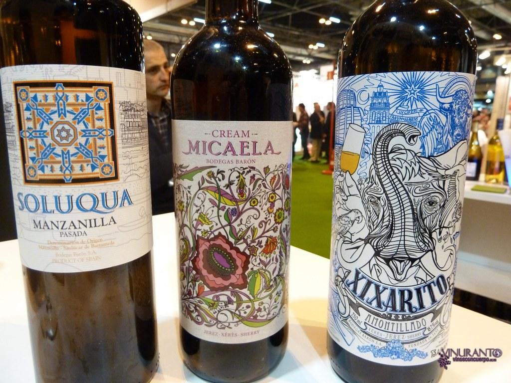 Soloquua, Micaela y Xixarito. Manzanilla, Cream y Amontillado. Cádiz.
