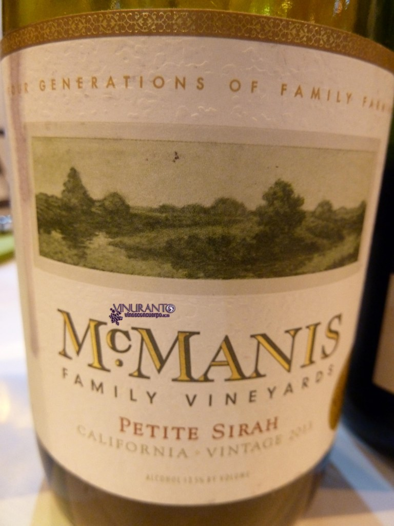 McManis Petite Syrah. California - Estados Unidos.