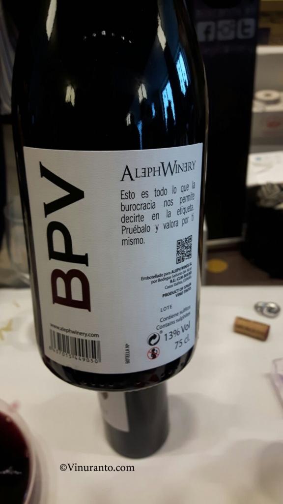 BVP de Aleph Winery. Proximamente.