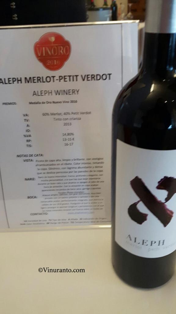Aleph Winery Premios.