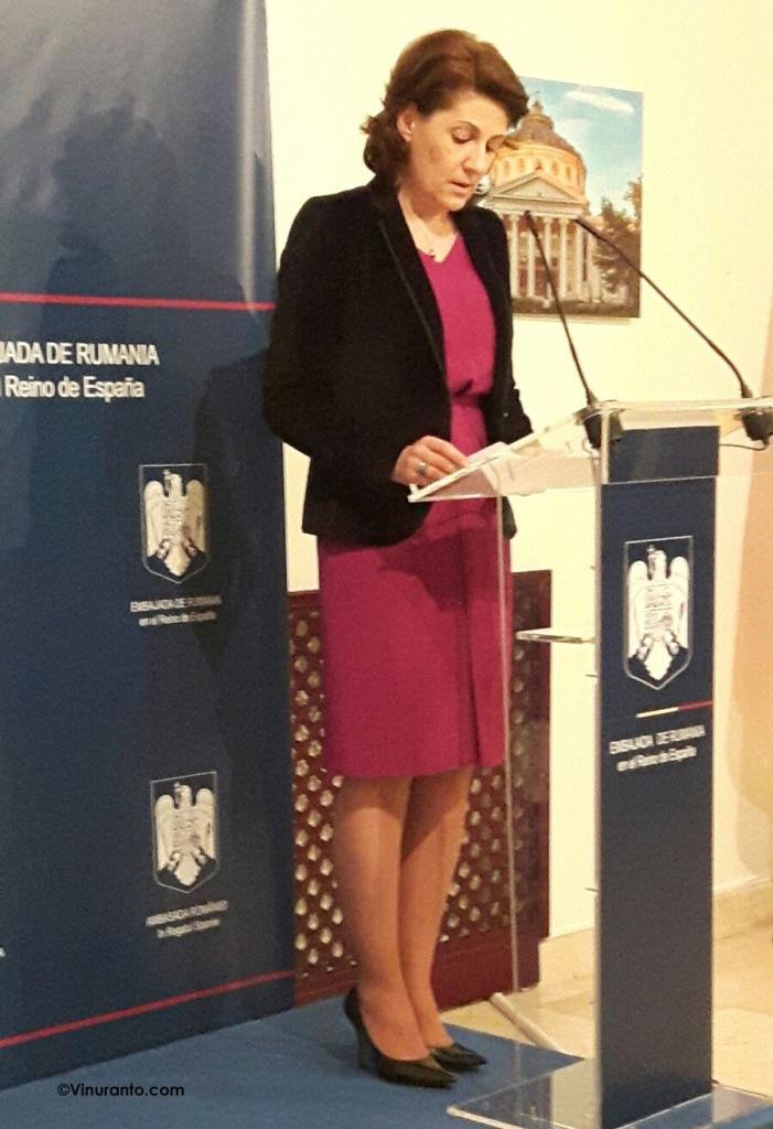 Camila, Embajadora de Rumania en España.